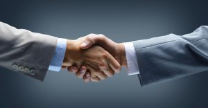 BIC Recruiting shaking hands